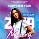 New Year Dj Flyer Templates-Graphicriver中文最全的素材分享平台