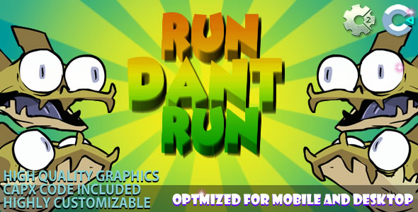 Run Dant Run (C2/C3/HTML5) Game!