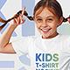Kids Girl T-Shirt Mockups Vol 2. Part 1 - GraphicRiver Item for Sale