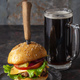 Hamburger and beer - PhotoDune Item for Sale
