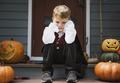 Sad boy in a Halloween costume - PhotoDune Item for Sale