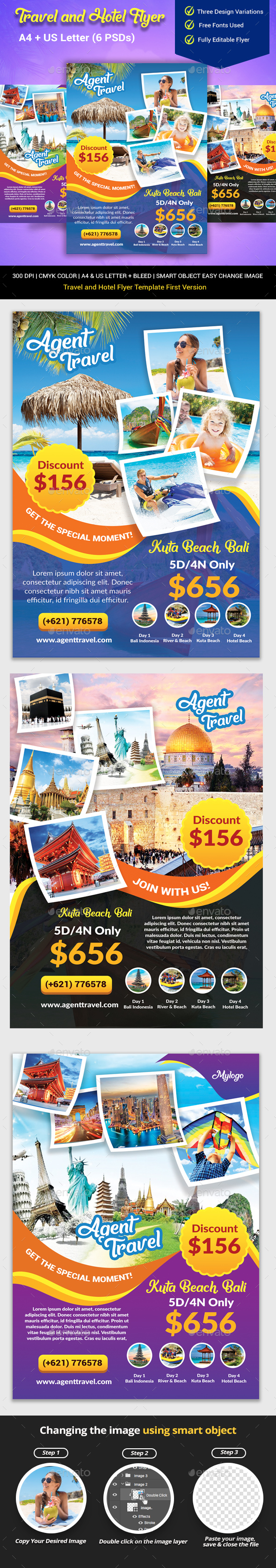Hotel and Travel Flyer Template - Holidays Events