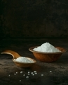 A wooden spoon and bowl of salt crystals - PhotoDune Item for Sale