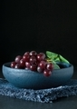 Red grapes in a blue bowl - PhotoDune Item for Sale