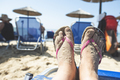 Woman feet on the beach - PhotoDune Item for Sale