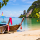 Longtail Boats Moored At Aonang Beach in Thailand - PhotoDune Item for Sale