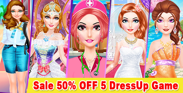 Best 5 Dress Up Game For Kids + Ready For Publish + Android Studio            Nulled