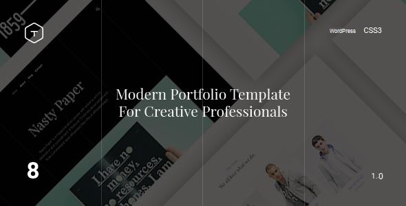 Eight - Responsive Portfolio WordPress Theme - Portfolio Creative