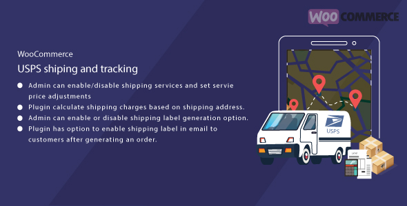 WordPress WooCommerce USPS Shipping Print Label and Tracking            Nulled