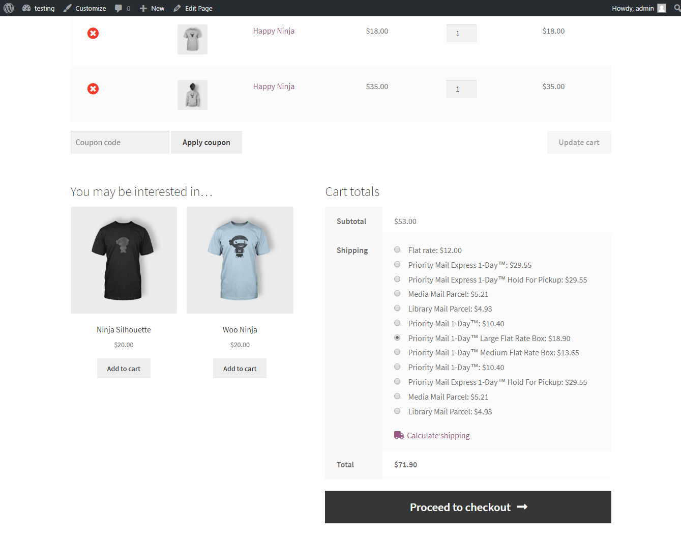 WordPress WooCommerce USPS Shipping Print Label and Tracking