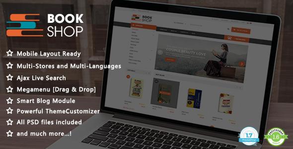 Book Shop - Ebooks & Library Responsive PrestaShop 1.7 & 1.6 Theme