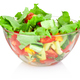 Fresh vegetable salad in glass bowl isolated on white background - PhotoDune Item for Sale