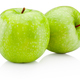 Two green apple isolated on white background - PhotoDune Item for Sale