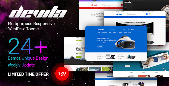 Devita - Multipurpose Theme for WooCommerce WordPress - WooCommerce eCommerce