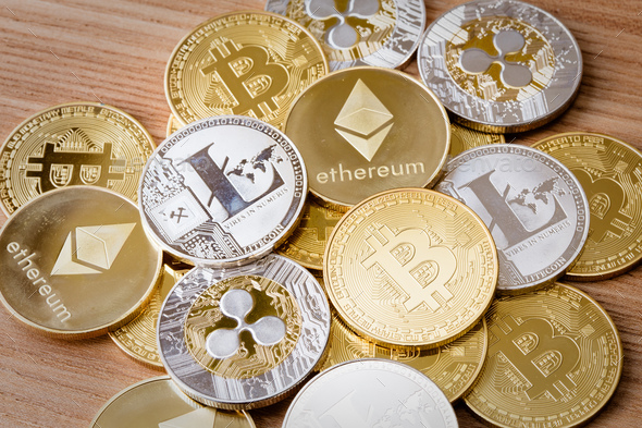 Isolated Crypto Currency - Stock Photo - Images