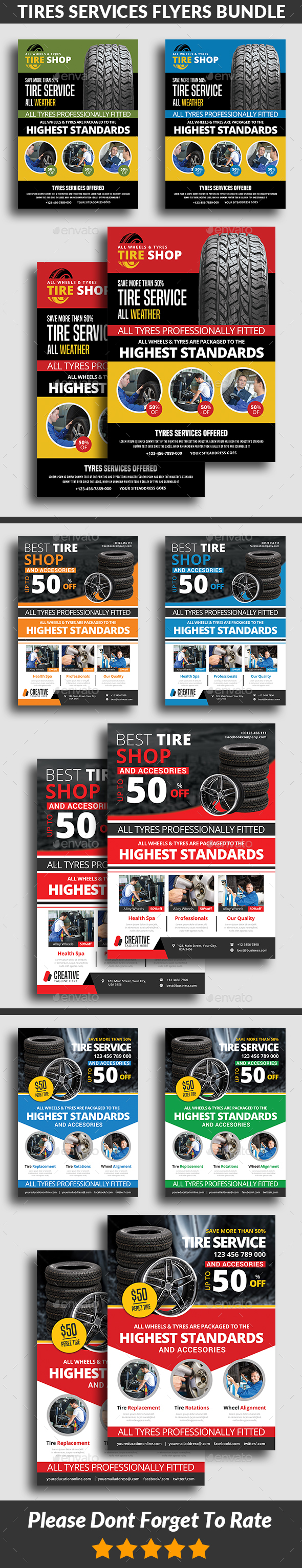 Tires Services Flyers Bundle - Commerce Flyers