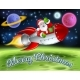 Santa in Space Rocket Merry Christmas Cartoon - GraphicRiver Item for Sale
