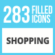 283 Shopping Filled Low Poly Icons - GraphicRiver Item for Sale