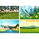 Four Background Scenes Of Forest And River - GraphicRiver Item for Sale