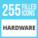 256 Hardware Filled Low Poly Icons - GraphicRiver Item for Sale