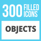 300 Objects Filled Round Corner Icons - GraphicRiver Item for Sale