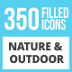 350 Nature & Outdoor Filled Low Poly Icons - GraphicRiver Item for Sale