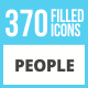 370 People Filled Low Poly Icons - GraphicRiver Item for Sale