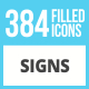 384 Sign Filled Low Poly Icons - GraphicRiver Item for Sale