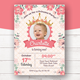 Pink Princess Birthday Invitation Set - GraphicRiver Item for Sale