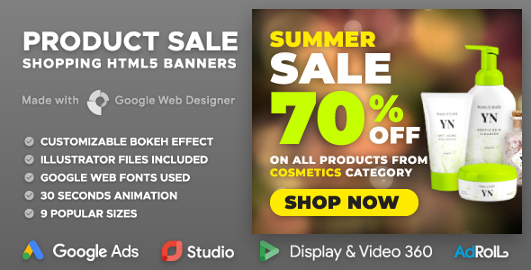 Bokeh - Product Sale HTML5 Banner Ad Templates (GWD) - CodeCanyon Item for Sale