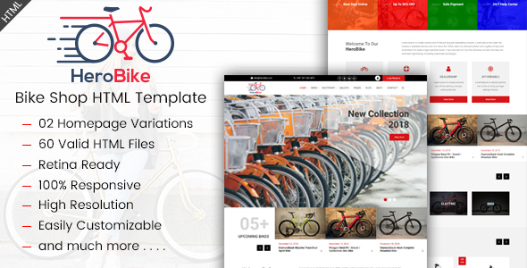 HeroBike - Responsive Bike Shop Template - Shopping Retail
