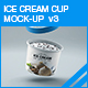 Ice Cream Cup Mock-up v3 - GraphicRiver Item for Sale