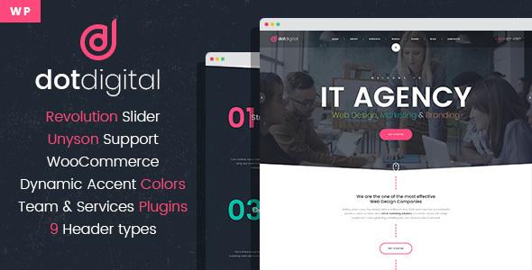 DotDigital – Web Design Agency WordPress Theme - Marketing Corporate