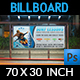 Surf Training Billboard Template - GraphicRiver Item for Sale