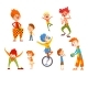 Clowns and Happy Little Kids Set - GraphicRiver Item for Sale