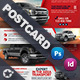 Commercial Vehicle Postcard Templates - GraphicRiver Item for Sale