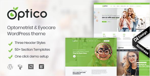 Optico | Optometrist & Eyecare WordPress Theme - Health & Beauty Retail