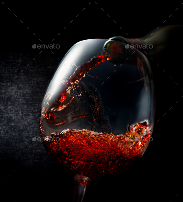 Wine pouring - Stock Photo - Images