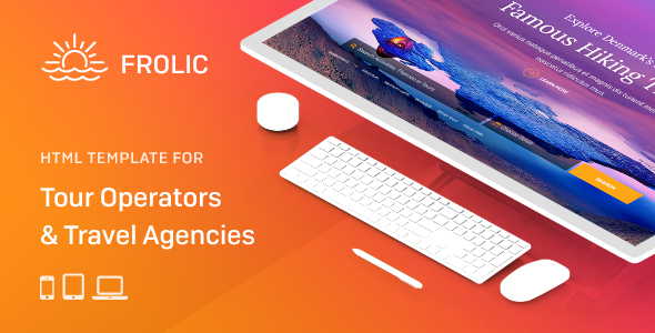 Top FROLIC - HTML Template for Tour Operators & Travel Agencies