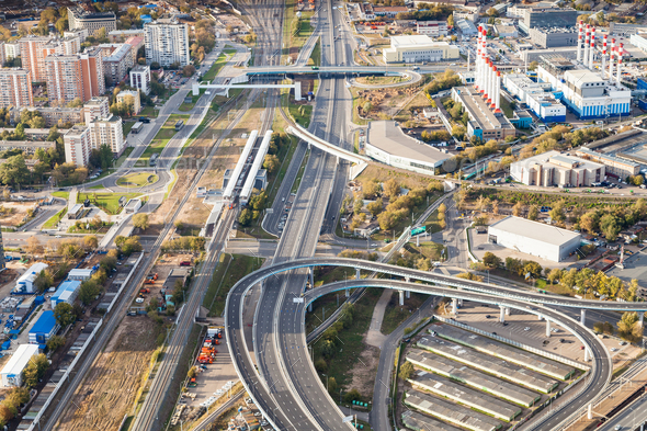 Third Ring Road and Railway Central Circle - Stock Photo - Images
