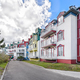 Beautiful Mount-Tremblant village in ski resort in fall view Canada - PhotoDune Item for Sale