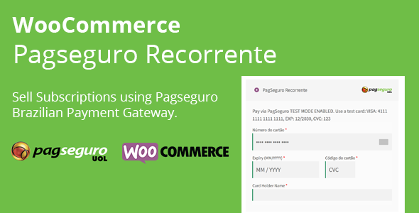 WooCommerce Pagseguro Recorrente            Nulled