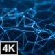 Plexus Background Flow - Blue 4K - VideoHive Item for Sale