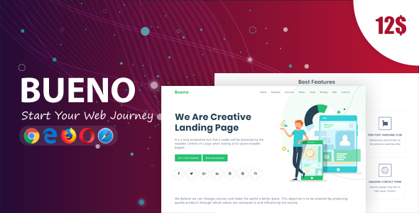 Bueno - Responsive Bootstrap 4 Landing Template - Landing Pages Marketing