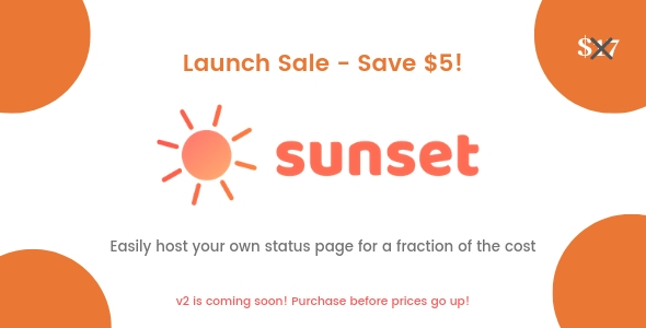Sunset - Status page software - CodeCanyon Item for Sale