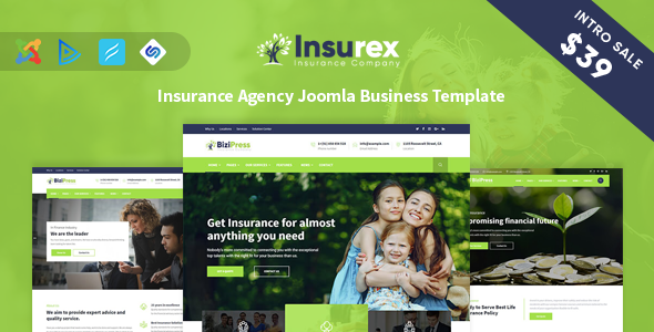 Insurex - Insurance Agency Joomla Business Template