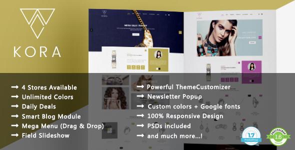 Kora - Handmade Jewelry Designer Responsive Prestashop 1.7 & 1.6 Theme - Shopping PrestaShop