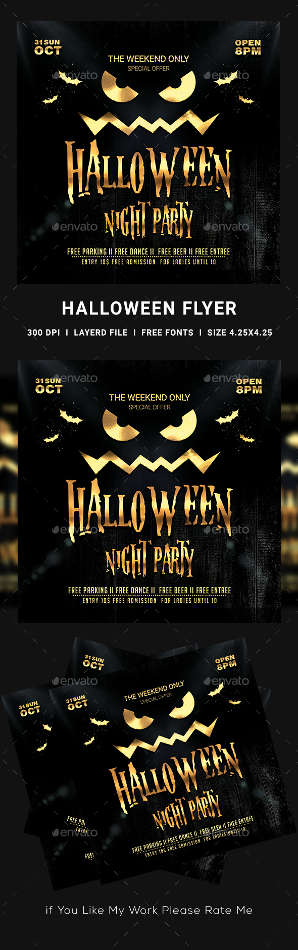 Halloween Party Flyer - Clubs & Parties Events