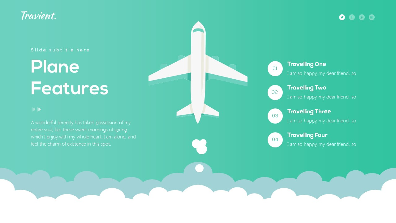 Travient Hotel Travel Agency Powerpoint Template