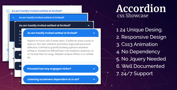 Accordion CSS Showcase - CodeCanyon Item for Sale